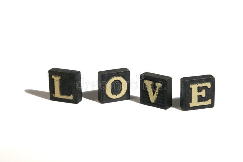 Liebe buchstabiert stockbild