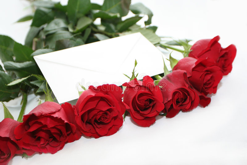 Liebe in den Rosen lizenzfreies stockbild