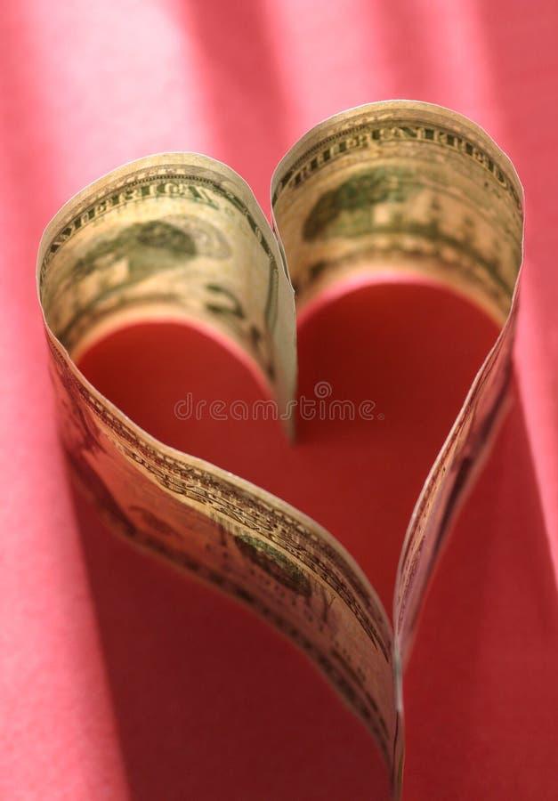 Liebe des Geldes lizenzfreies stockbild