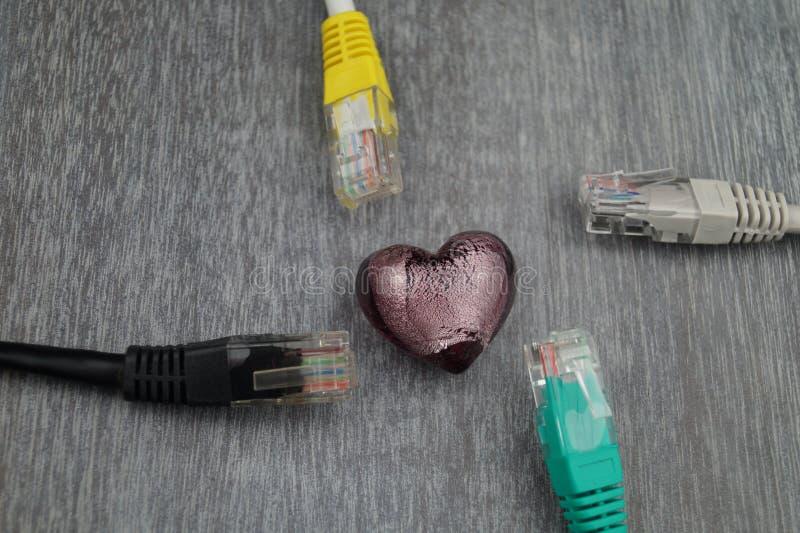 Liebe durch cklick - on-line-Datierung lizenzfreie stockfotos
