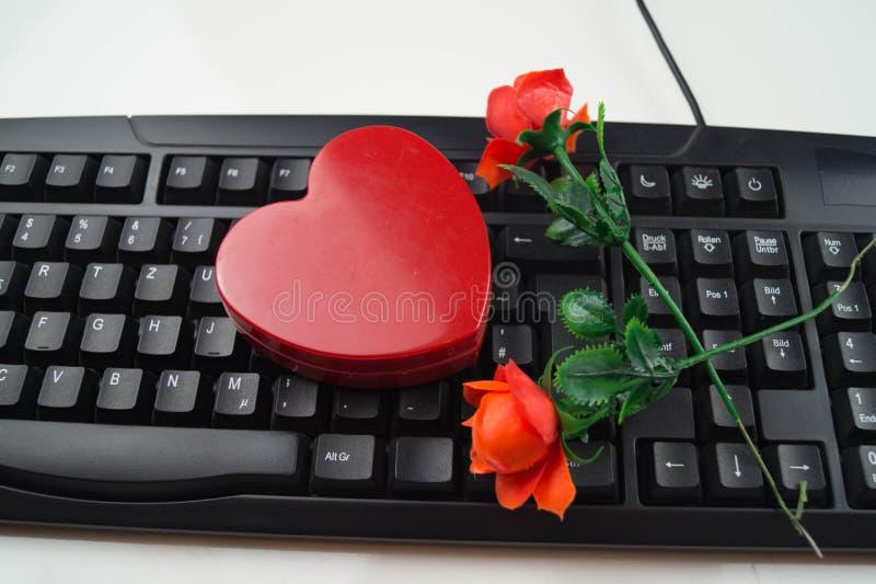 Liebe durch Klicken - on-line-Datierung stockfoto