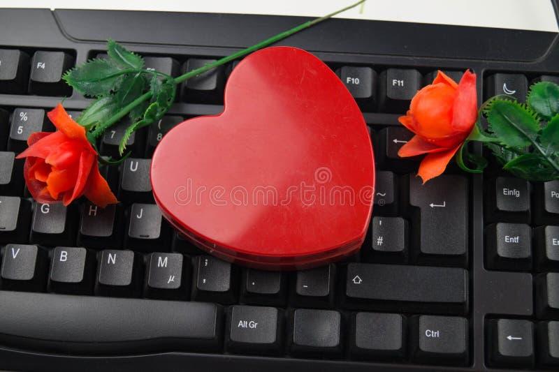 Liebe durch Klicken - on-line-Datierung stockfotografie