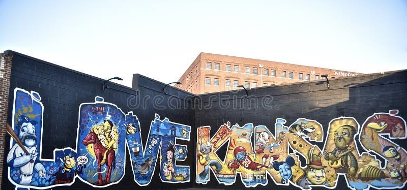 Liebe für Kansas Mural lizenzfreies stockfoto
