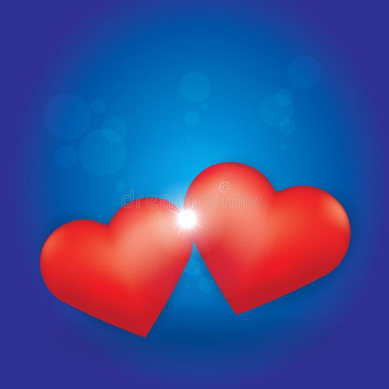 Liebe gesprengt zwischen zwei Inneren lizenzfreie abbildung
