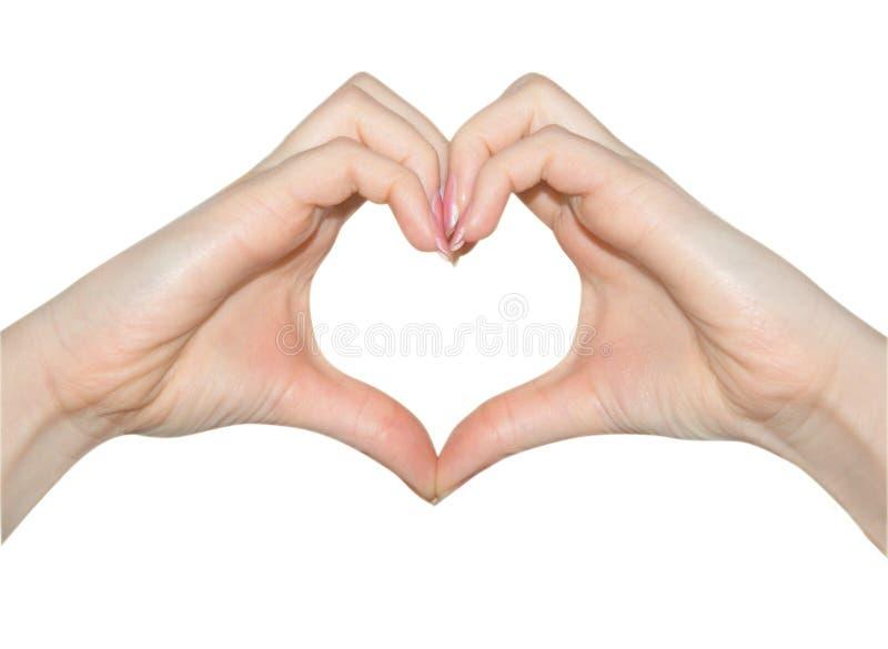 Liebe, Hände der Innerform lizenzfreie stockfotos
