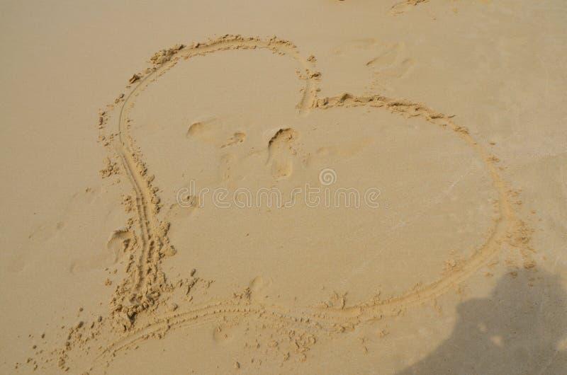 Liebe, Herz, Meer stockfoto