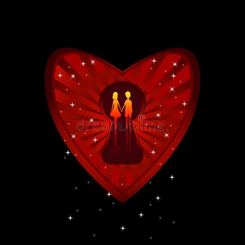 Liebe im Inneren vektor abbildung