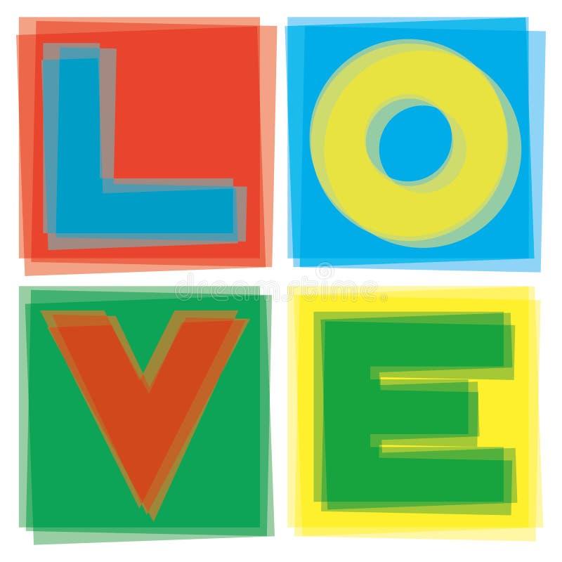 Liebe im Quadrat vektor abbildung