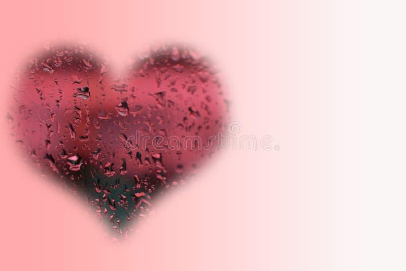 Liebe im Regen lizenzfreies stockbild