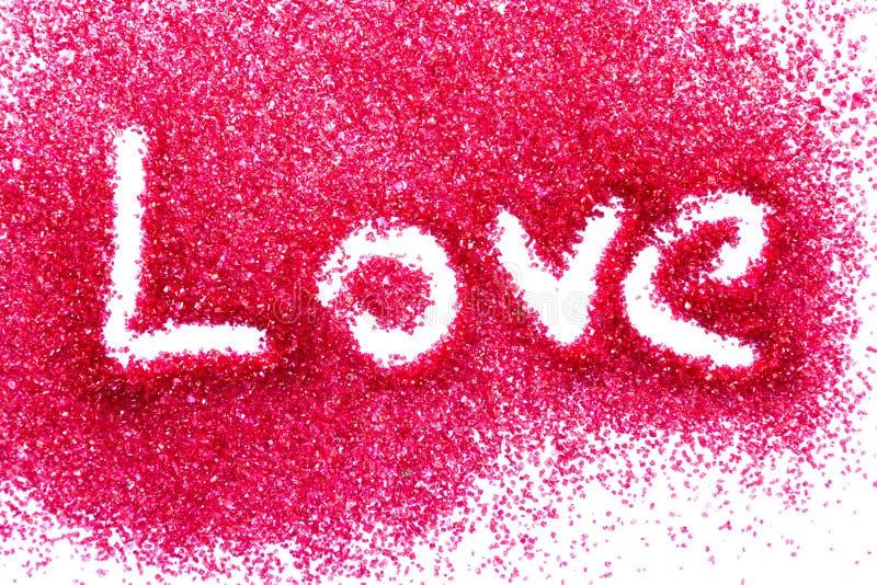 Liebe im roten Zucker stockfotos