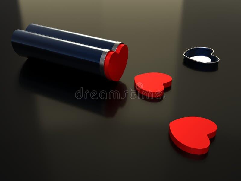 Liebe ist eine Droge vektor abbildung