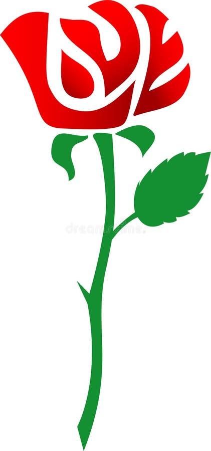 Liebe ist eine rote Rose/ENV lizenzfreie abbildung