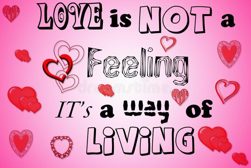 Liebe ist kein Gefühl stock abbildung