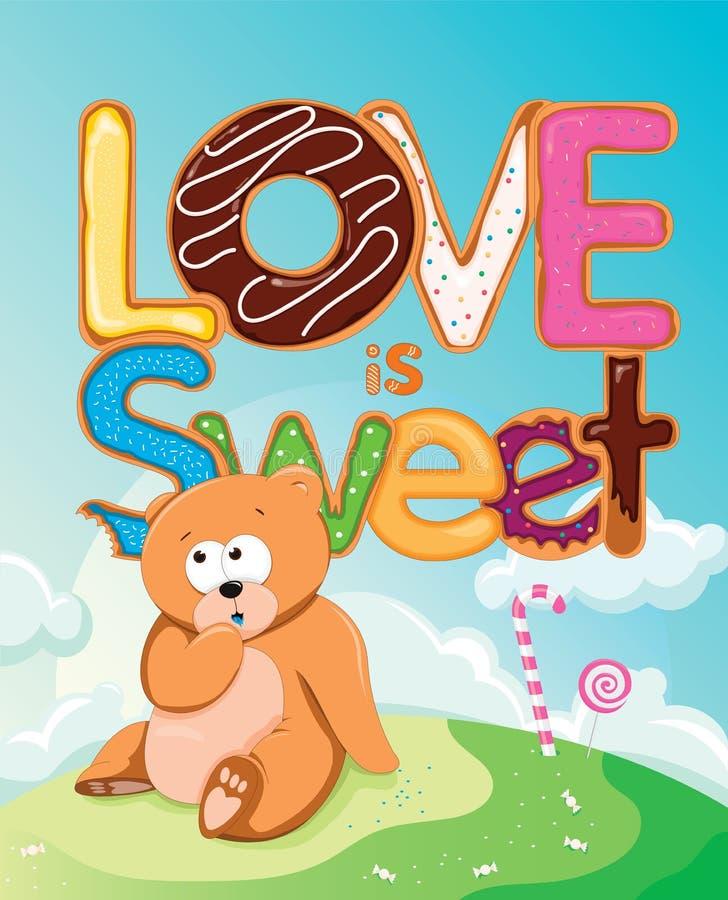 Liebe ist süß lizenzfreie abbildung