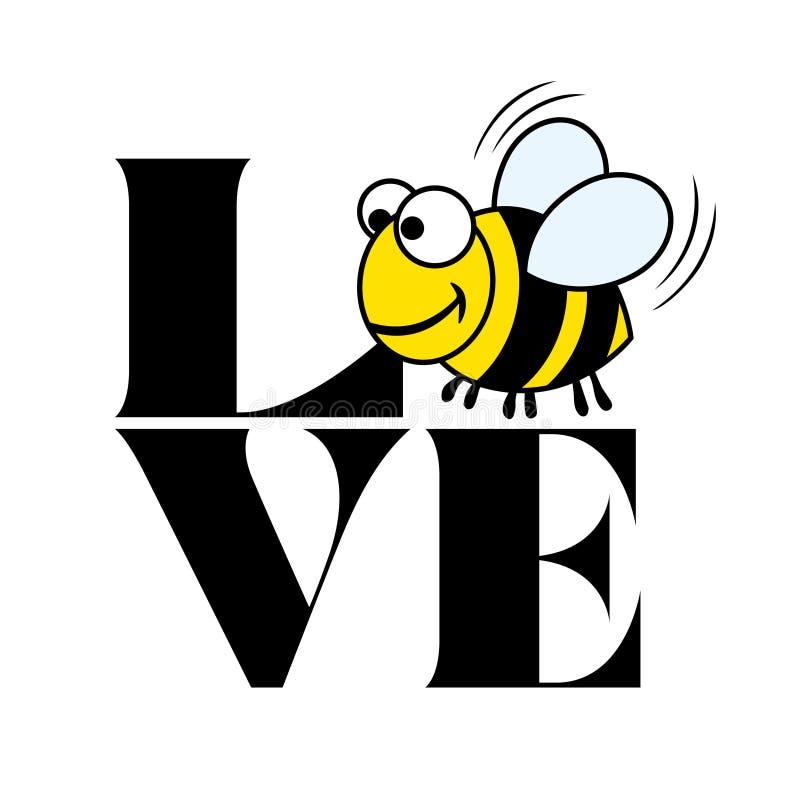 Liebe mit Biene - lustiges Vektorsprechen vektor abbildung
