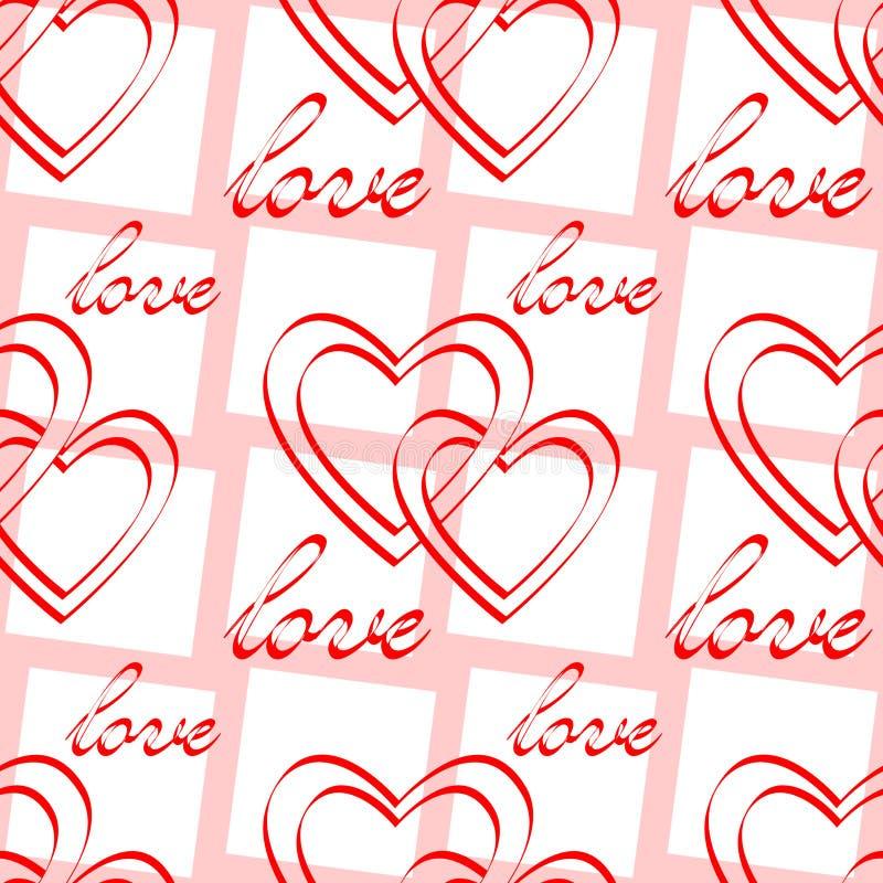 Liebe. Nahtloses Muster. vektor abbildung