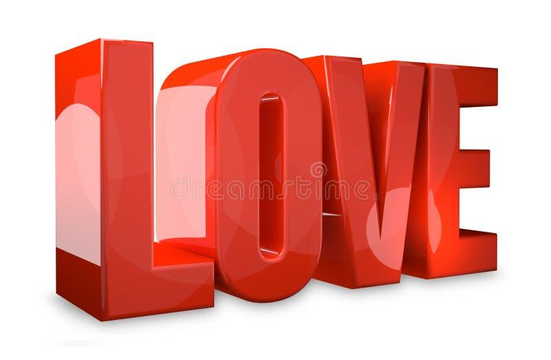 Liebe rotes 3d übertragen Symbol vektor abbildung