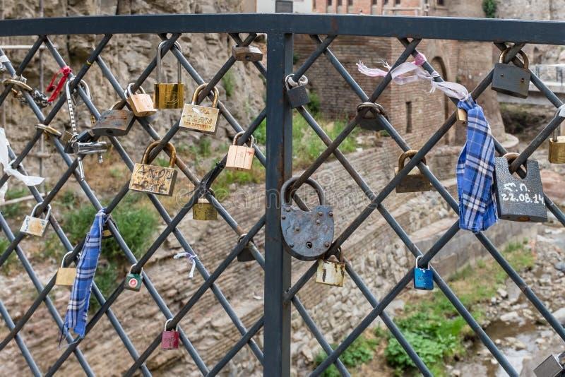 Liebe schließt Tiflis Georgia Eastern Europe zu lizenzfreies stockbild