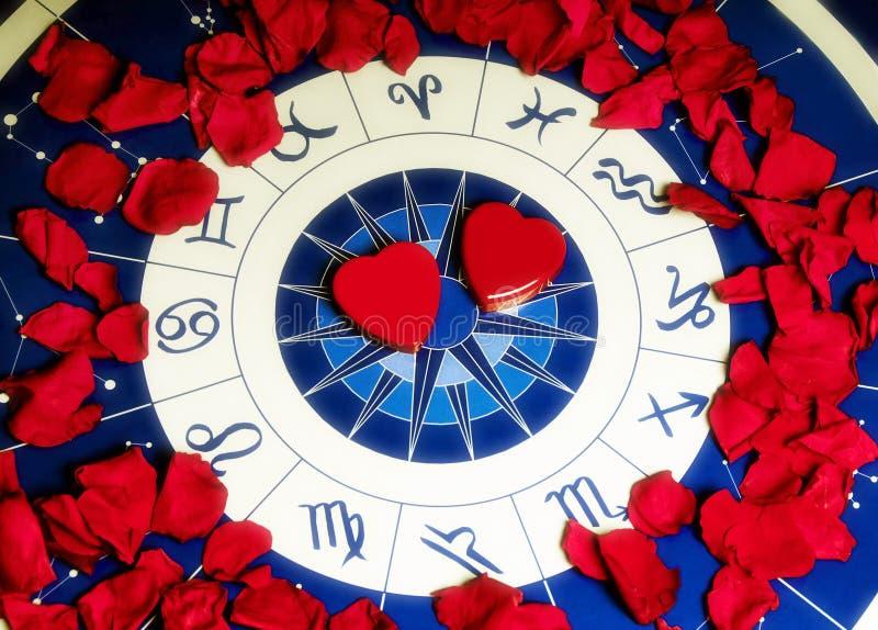 Liebe und Astrologie lizenzfreie stockbilder
