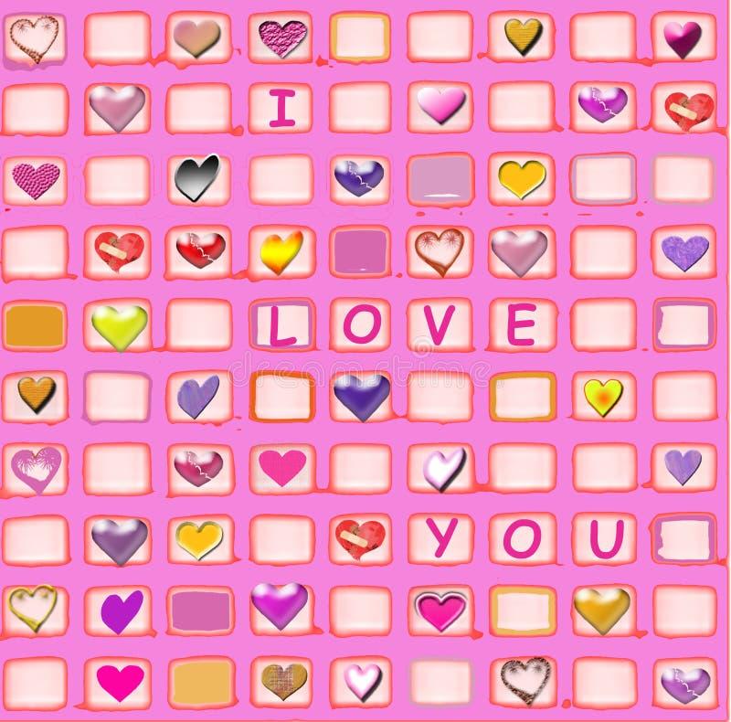 Liebe und Innere lizenzfreies stockfoto