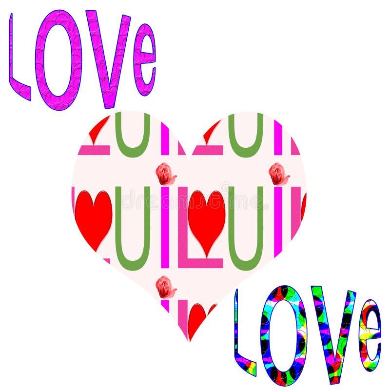 Liebe und Inneres lizenzfreie abbildung