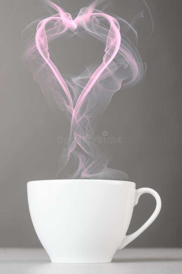 Liebe und Kaffee stockfotografie
