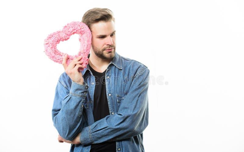 Liebe und romantisches Konzept Romantisches Symbol Ideen für romantischen Feiervalentinsgrußtag Romantischer Macho Kerl gut stockbild