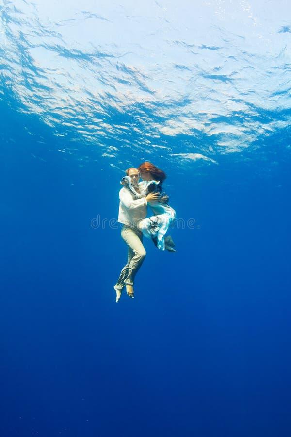 Liebe Unterwasser stockfoto