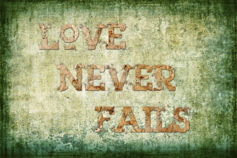 Liebe verlässt nie frommen Hintergrund vektor abbildung