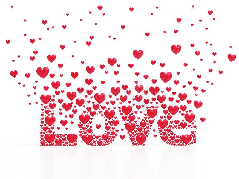 Liebe von den Herzen lizenzfreie abbildung