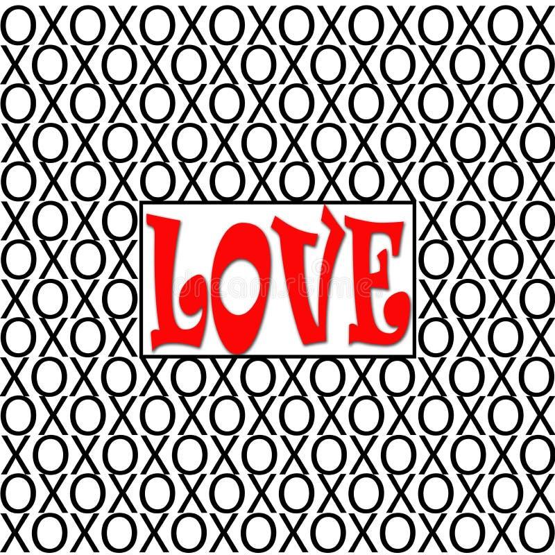 Liebe XOs-Illustration lizenzfreie stockfotografie