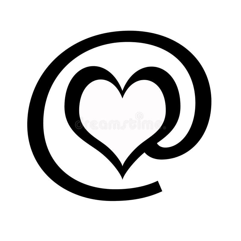 Liebe am Zeichen stock abbildung