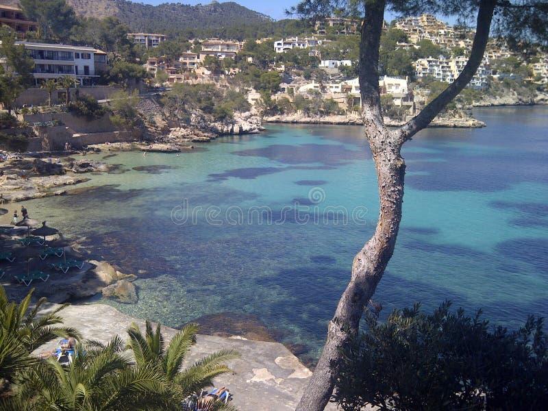 Lieben Sie ein Schwimmen in einer haarscharfen Bucht im MED stockfoto