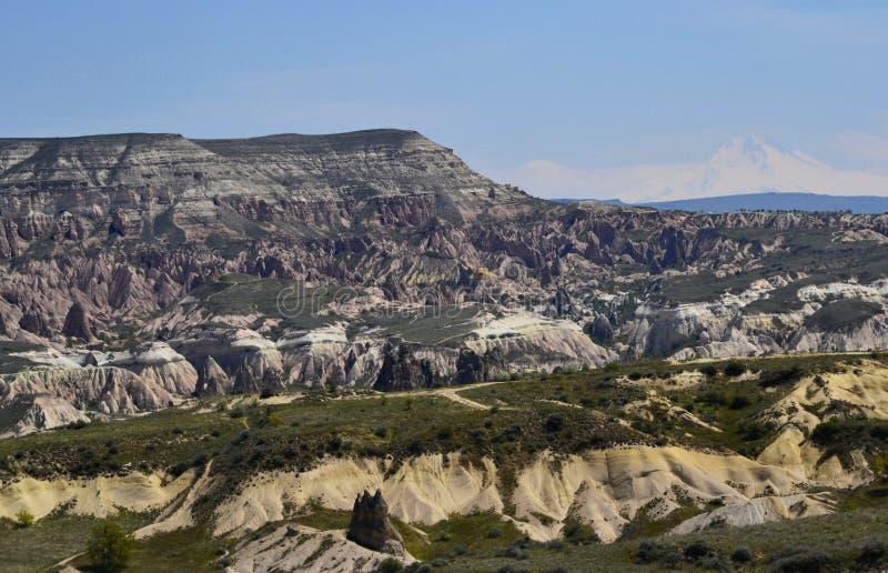 Lieben Sie Tal in Cappadocia, Goreme, die T?rkei stockfotografie