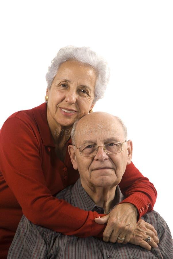 Lieben, stattliche ältere Paare stockfoto