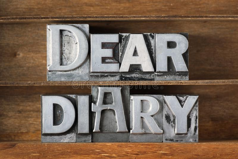 Lieber Tagebuchbehälter stockfoto