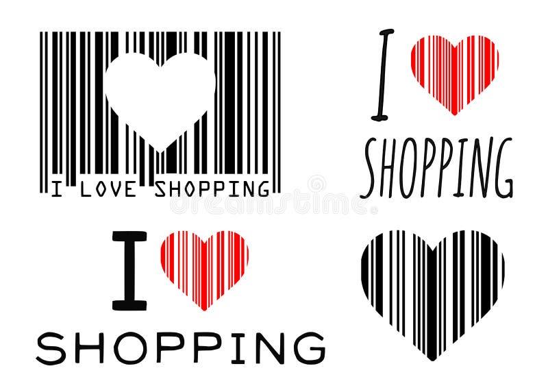 Liebes-Einkaufen stock abbildung