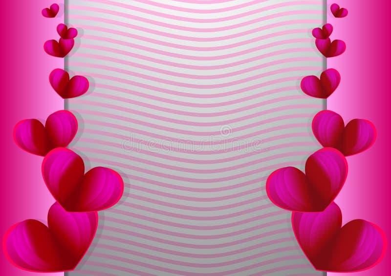 Liebes-Einladungskarte Valentinsgruß ` s Tag Liebesgruß-Kartenentwurf, Liebe Einladungskarte Valentinstag-Zusammenfassungshinterg vektor abbildung
