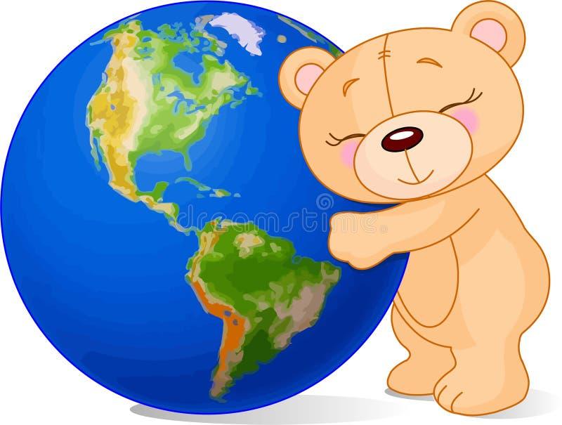 Liebes-Erde-Bär vektor abbildung