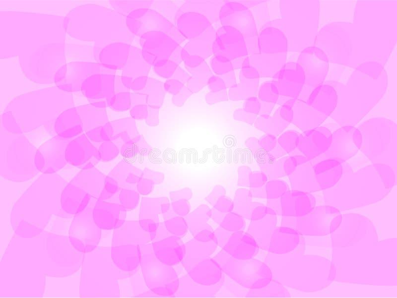 Liebes-Form im Rosa stockbilder