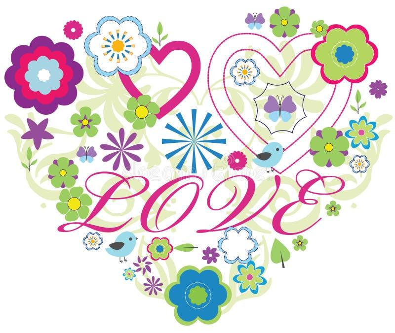 Liebes-Gestaltungsarbeit lizenzfreie abbildung