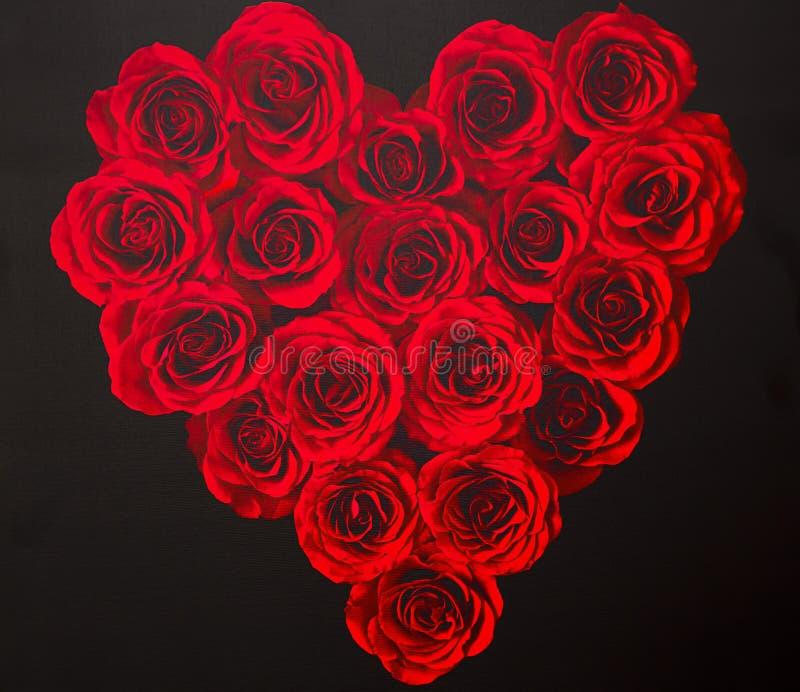 Liebes-Herz von den Rosen lizenzfreies stockbild