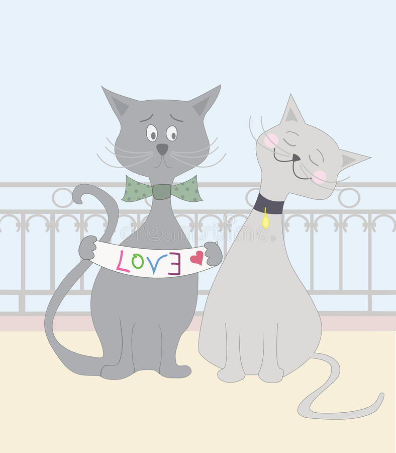 Liebes-Katzen lizenzfreie abbildung