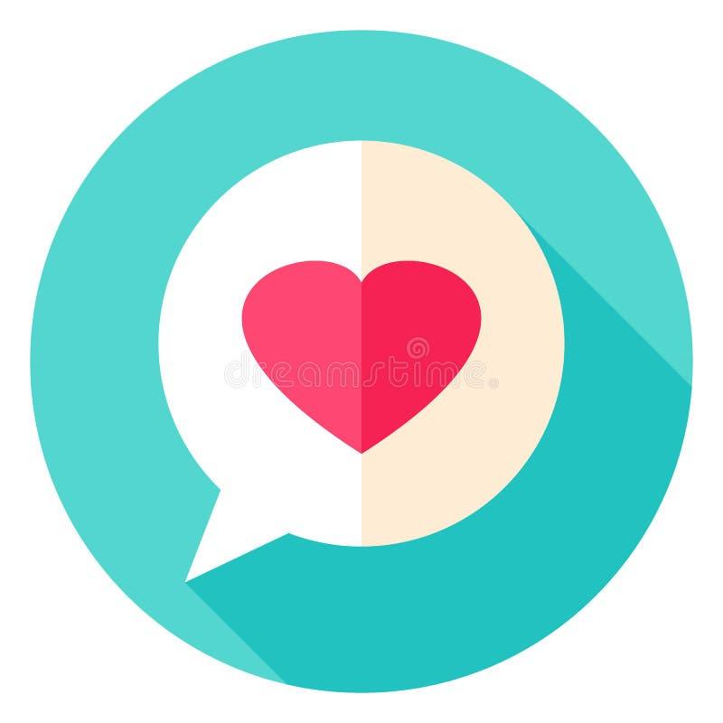 Liebes-Mitteilungs-Kreis-Ikone vektor abbildung