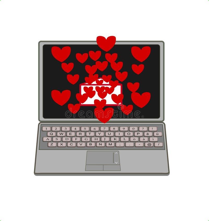 Liebes-Notizbuch lizenzfreie abbildung