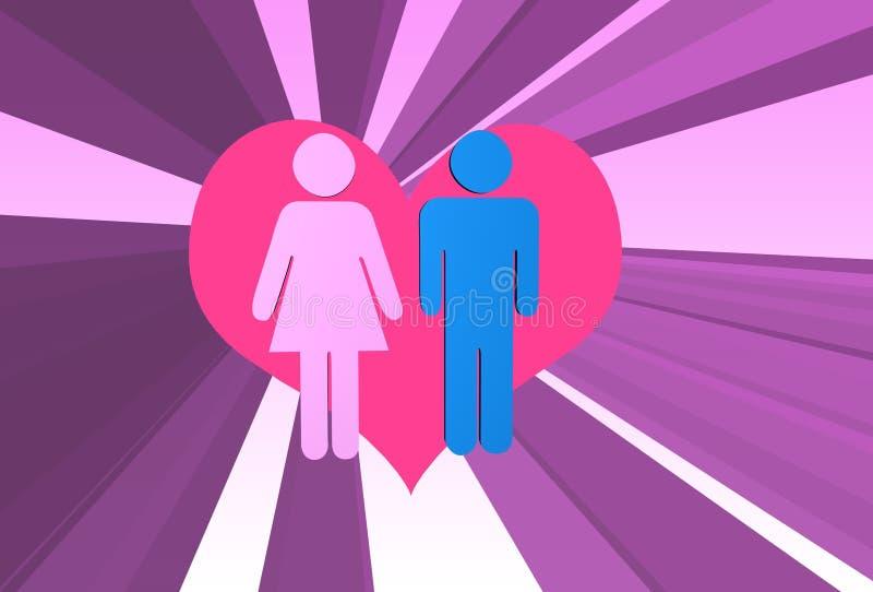 Liebes-Paare vektor abbildung