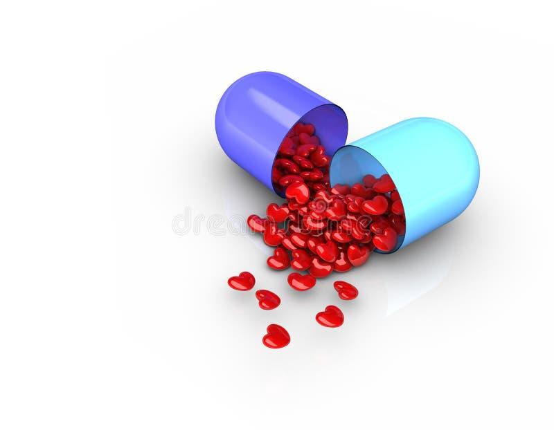 Liebes-Pillen lizenzfreie abbildung