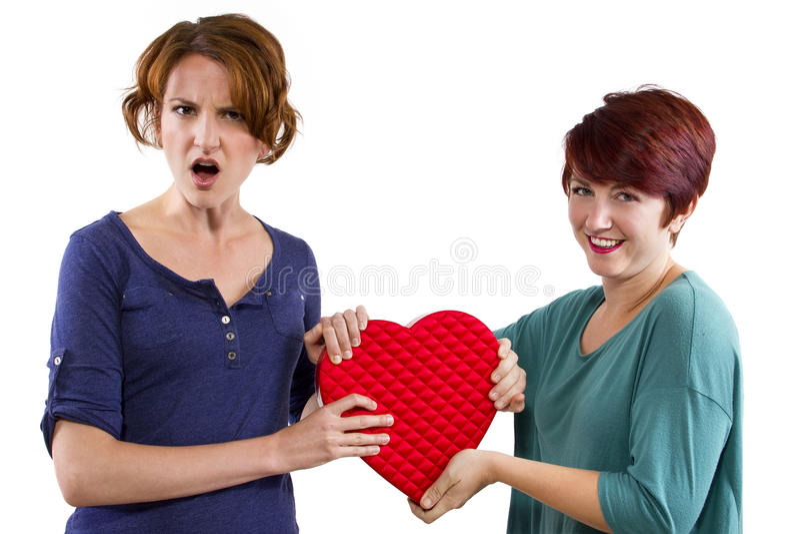 Liebes-Rivalen stockbilder