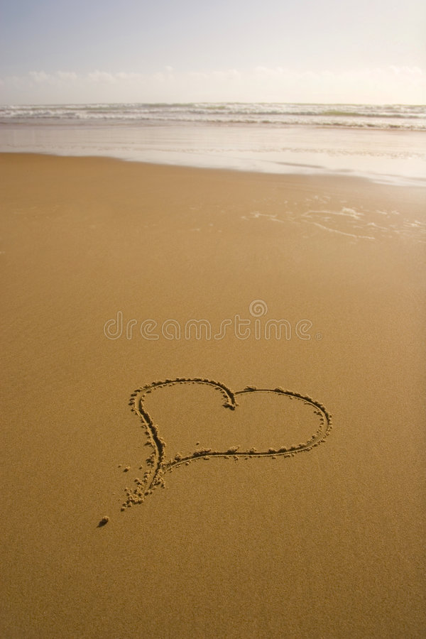 Liebes-romantischer Strand stockbilder
