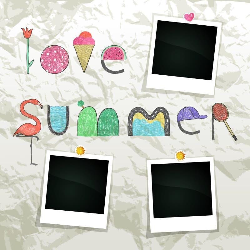 Liebes-Sommer lizenzfreie abbildung